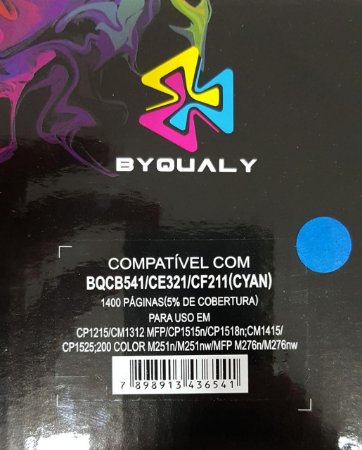 Cart De Toner Compativel C/ 541a/321a/211a 1,4k Byqualy