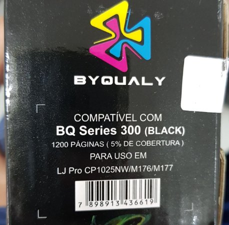 Cart De Toner Compativel C/ Bq Series 300 1,2k Bk Byqualy