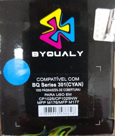 Cart De Toner Compativel C/ Bq Series 301 C 1,0k Byqualy