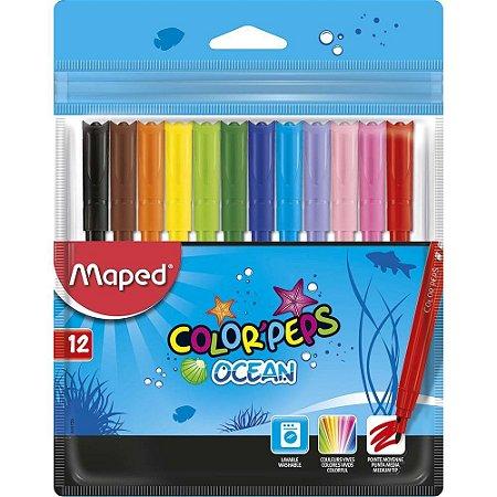 Canetinha  Color Peps Ocean  Estojo X 12 Cores