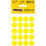 Etiqueta Redonda Amarela 15mm - Grespan