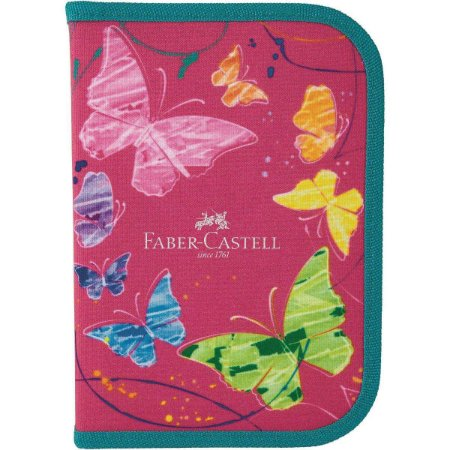 Kit Escolar Borboleta Rosa - Faber-Castell