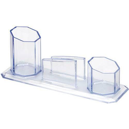 Trio Porta Caneta/Clips/Lembrete Cristal(Esgotado)