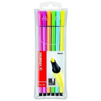 Kit Pen Estojo Com 6 Sortidos Neon-Stabilo