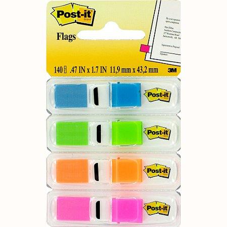 Bloco Marcador Página Flags 4 Cores 140fls Post-It - 3M
