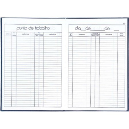 Livro Ponto 4 Assinaturas Oficio 50 Fls - Foroni
