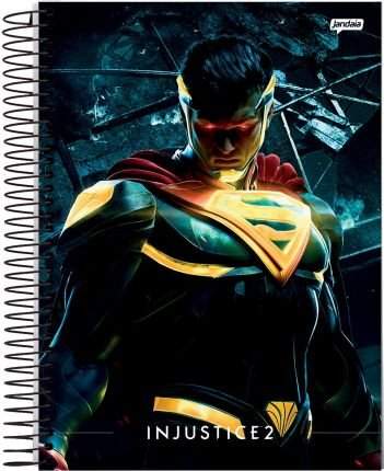 Caderno Espiral 12M Injustice - Jandaia