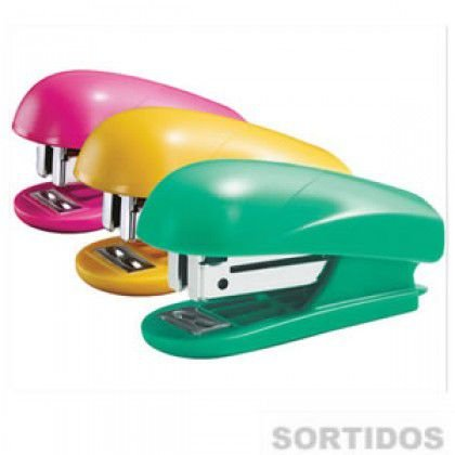 Grampeador Plastico Mini Cores Sortidas