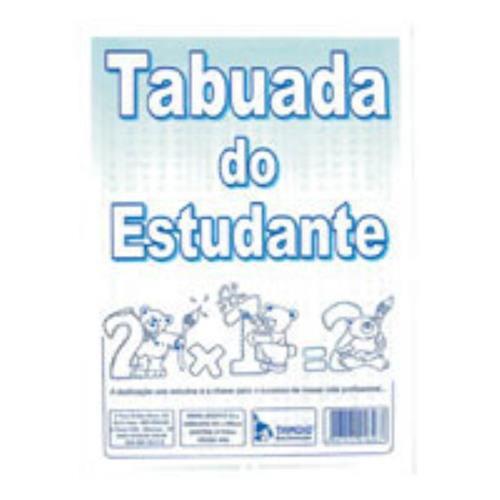 Tabuada Do Estudante 10 Fls - Tamoio