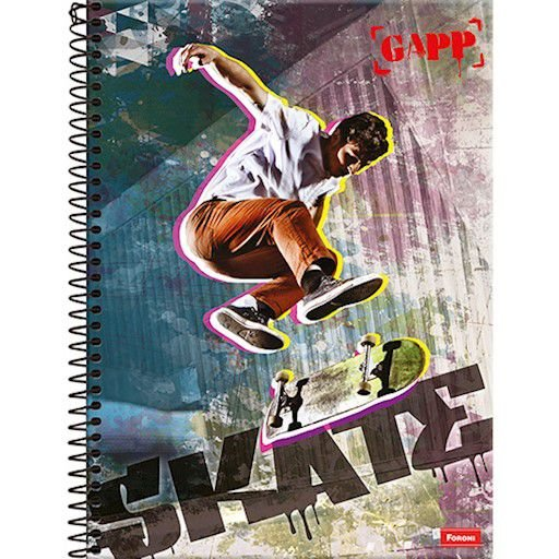 Caderno  Skate  10m - CREDEAL