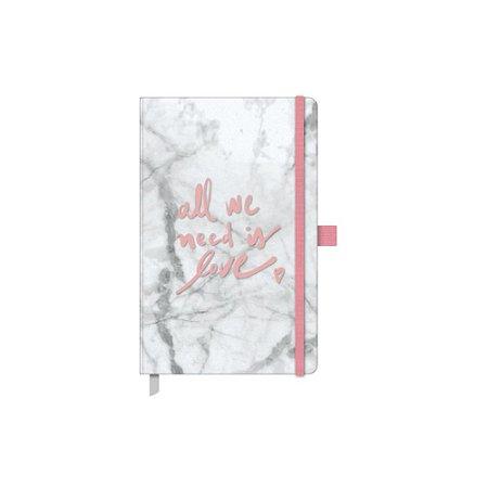 Caderno Papertalk Pink Stone Maxi Pontilhado Marmorizado - Otima
