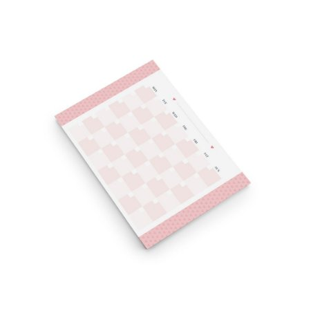 Bloco Pink Stone Calendario Permanente A4