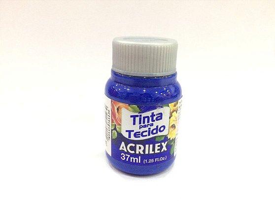 Tinta Tecido Fosca Azul Cobalto 37ml - Acrilex