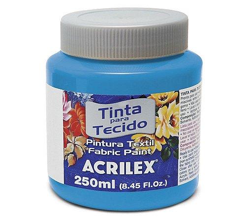 Tinta Tecido Azul Celeste 250ml - Acrilex