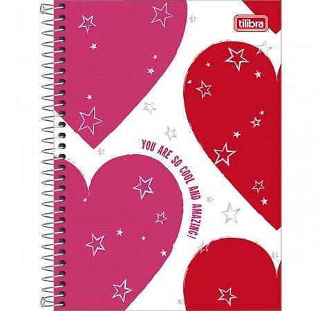Caderno Espiral Universitário 1 Matéria Love Pink - Tilibra