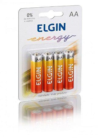 Pilha Zinco Pequena AA Blisters com 4 Unidades -Elgin