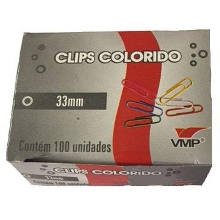 Clips Colorido 33mm Sortidos - VMP