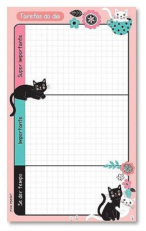 Bloco tarefas do dia Gatos-Fina Ideia