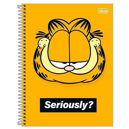 Caderno Universitário 1Máteria 80 Folhas Garfield-Tilibra