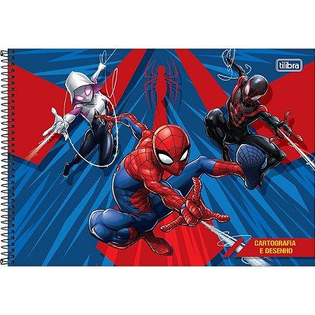 Caderno Cartografia e Desenho 80 Folhas Spider Man-Tilibra