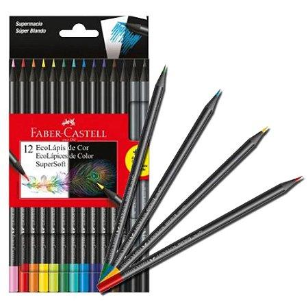 Lápis De Cor Super Soft 12 Cores - Faber-Castell