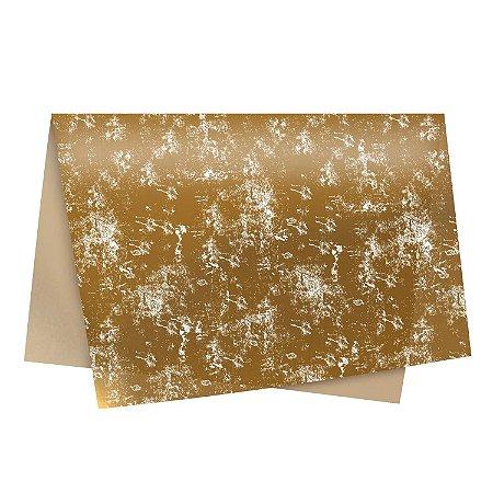 Papel Seda Requinte Ouro 49x69cm-Cromus