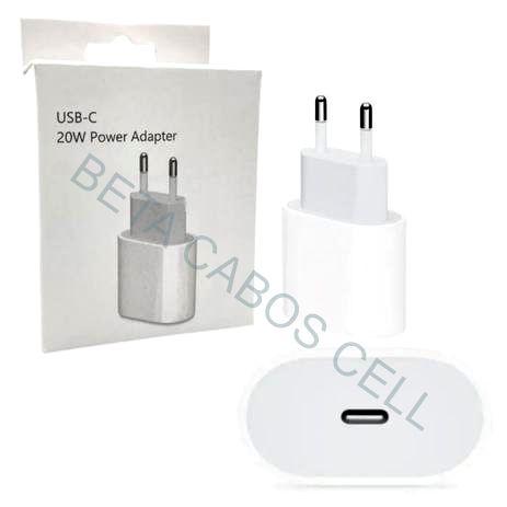 Fonte Carregador Tomada USB-C Tipo C Type C para Iphone 11  Iphone 12 20W
