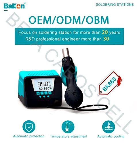 Estação Retrabalho Bakon Bk-880 Bk 880 Soprador Ar Quente 220v Lead Free