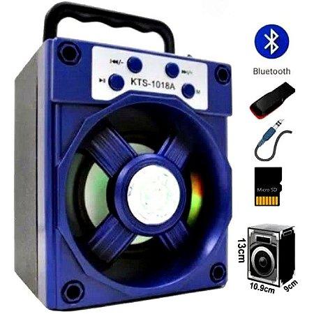 Caixa De Som KTS 1018 Bluetooth Pendrive Usb Cartão