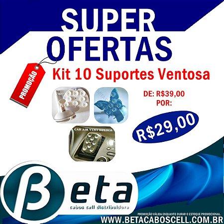 Kit 10 Suportes Ventosa **PROMOÇÃO
