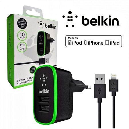 Carregador Belkin 10W com 2 USB Iphone