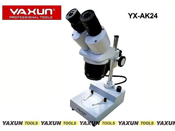 Microscópio Estereoscópio Binocular Yaxun Yx-ak24 AK 24 20x 40x Bivolt