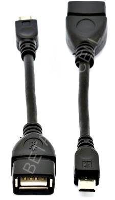 Cabo USB Femea X V8 Macho OTG