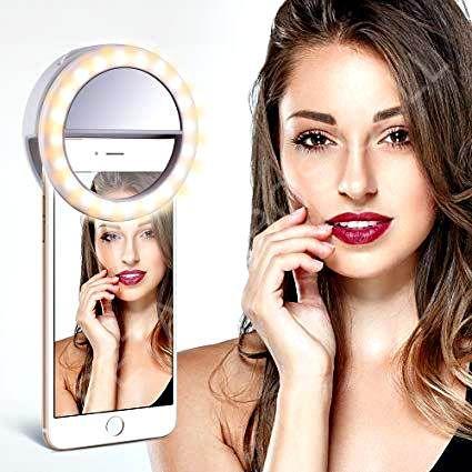 Luz De Selfie Ring Light Anel Led Flash Foto Celular Tablet Iphone