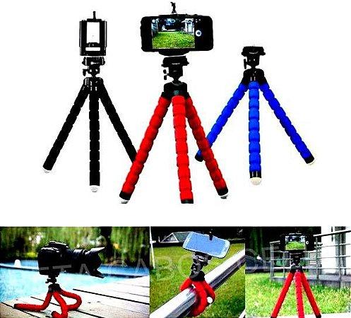 Mini Tripé Tripe Flexível Suporte Universal Celular Câmera Digital