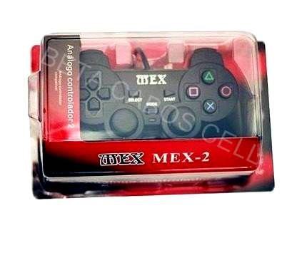 Controle Joystick Mex Ps2 Analógico Vibratório com Embalagem