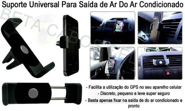 Kit com 6 Suporte Celular Universal Veicular Ar Condicionado Carro Gps Contem 6 Peças