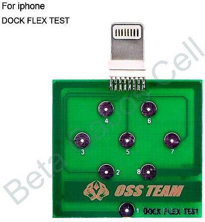 Dock Flex Test IPhone Placa de Diagnóstico para Teste de Carregamento e de Bateria