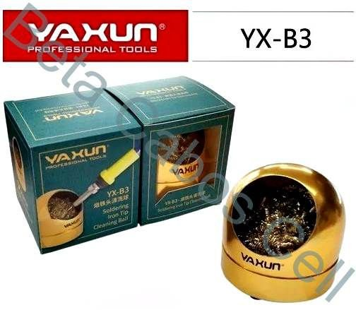 Esponja Metalica com Suporte ESD Limpeza Ferro Solda Yaxun YX B3 YX-B3