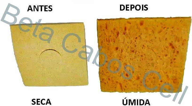 Esponja Vegetal para Limpeza de  Ferro de Solda Quadrada