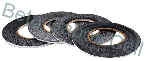 Fita Adesiva Dupla Face 50 Metros Preta 3mm Reparo Touch Brand Tape Preta Celular e Tablet