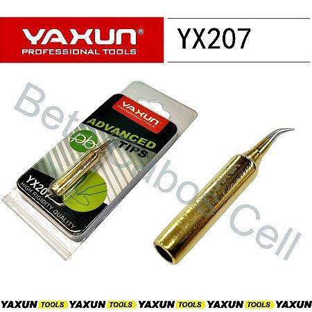 Ponta De Ferro De Solda Yaxun YX207 Curva Dourada YX-207
