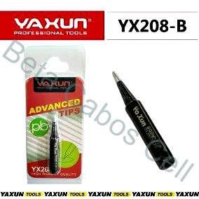 Ponta De Ferro De Solda Yaxun YX 208 Reta Preta Yx-208