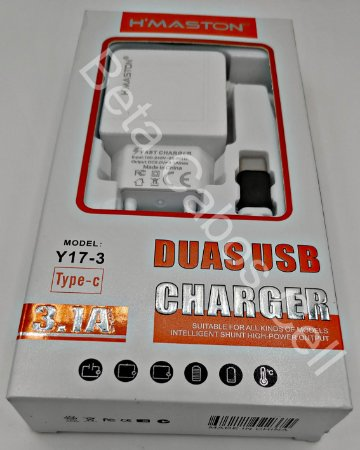 Carregador Hmaston Type C Y17-3 Y 17-3 2 USB 3.1A H***