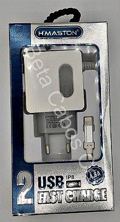 Carregador Tomada Hmaston Iphone CH-809-2 CH 809-2 2 USB 4.8A H***