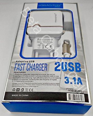 Carregador Tomada Hmaston Iphone Y33-2 Y 33-2 2 USB 3.1A H***