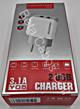Carregador Tomada Fonte Hmaston Y-05 Y 05 2 USB 3.1A H***