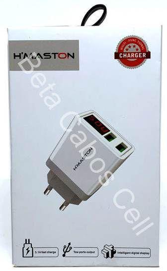 Carregador Duplo com Display Hmaston Digital 3.1A HX35