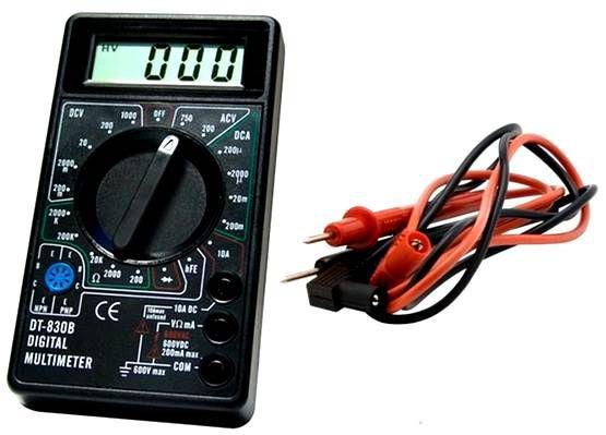 Multímetro Digital Dt-830b Medição De Tensão 9v