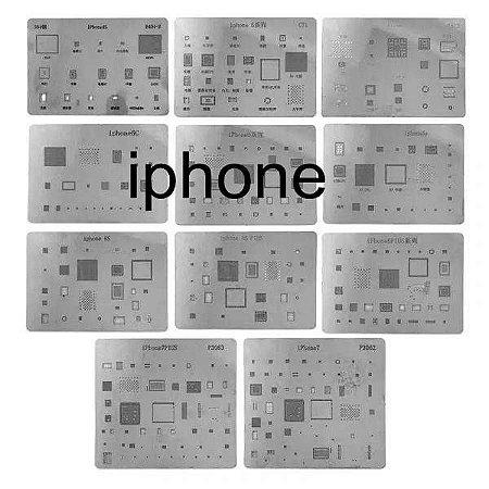 Stencil Bga Iphone Kit 10 pçs do 7G até 11 Pro Max